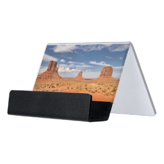 View of the Mittens, Monument Valley Desk Business Card Holder