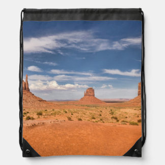 View of the Mittens, Monument Valley Drawstring Bag