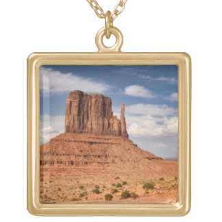 View of the Mittens, Monument Valley Gold Plated Necklace