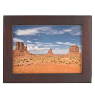 View of the Mittens, Monument Valley Keepsake Box