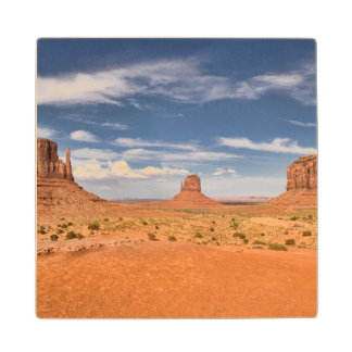 View of the Mittens, Monument Valley Wood Coaster