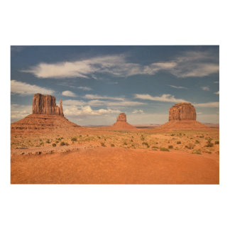 View of the Mittens, Monument Valley Wood Print