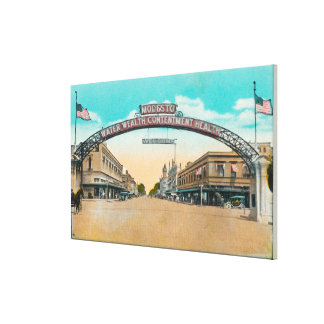 View of the Modesto Welcoming ArchModesto, CA Canvas Print