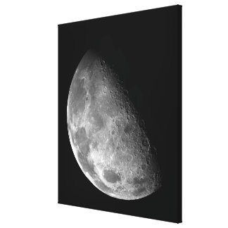 View of the Moon's north pole Canvas Print