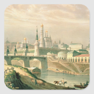View of the Moscow Kremlin, 1830 Square Sticker