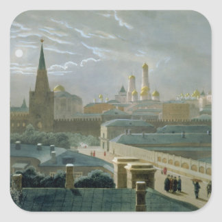 View of the Moscow Kremlin, 1840's Square Sticker
