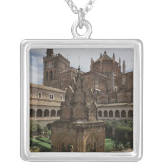 View of the mudejar cloister silver plated necklace