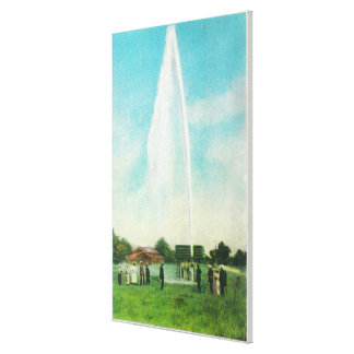 View of the Myrtledale Geyser at the Hot Springs Canvas Print