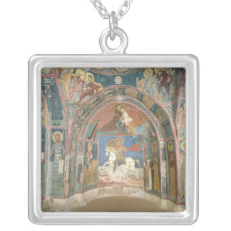 View of the narthex, 1332-3 silver plated necklace