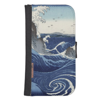 View of the Naruto whirlpools at Awa Galaxy S4 Wallet Cases