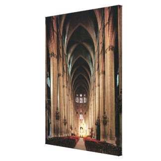 View of the nave, 1225-50 canvas prints
