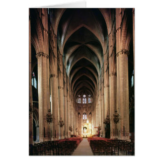 View of the nave, 1225-50 greeting card