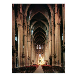 View of the nave, 1225-50 postcard