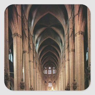 View of the nave, 1225-50 square sticker