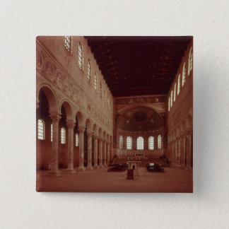 View of the nave and the altar 15 cm square badge