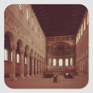 View of the nave and the altar square sticker