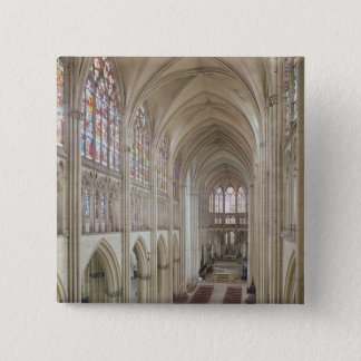 View of the nave and the choir 15 cm square badge