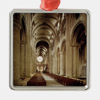 View of the nave, built 1093-1289 christmas ornament