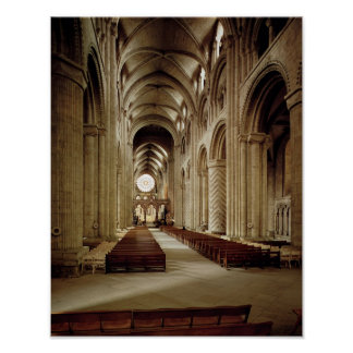 View of the nave, built 1093-1289 poster