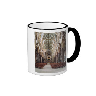 View of the nave, built 1215-55 coffee mugs