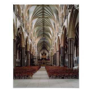 View of the nave, built 1215-55 poster