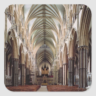 View of the nave, built 1215-55 square sticker