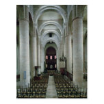 View of the nave, looking towards the altar post card