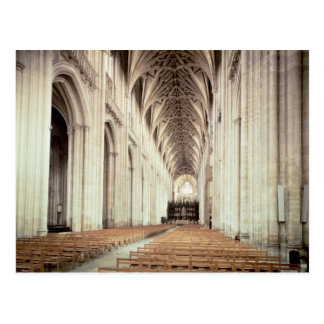 View of the nave, remodelled by William of Post Card