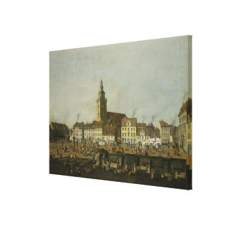 View of the Neue Markt with St. Mary's Canvas Print