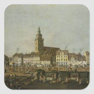 View of the Neue Markt with St. Mary's Square Sticker