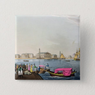 View of the Neva, the Harbour and the Exchange at 15 Cm Square Badge