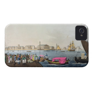 View of the Neva, the Harbour and the Exchange at iPhone 4 Cases