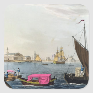 View of the Neva, the Harbour and the Exchange at Square Sticker
