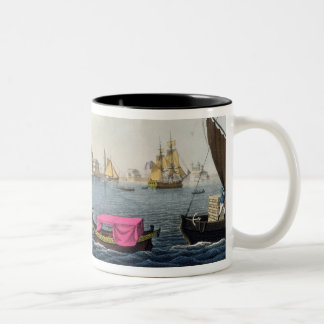 View of the Neva, the Harbour and the Exchange at Two-Tone Coffee Mug