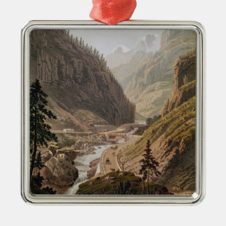 View of the New Simplon Pass, 1811 Christmas Ornament