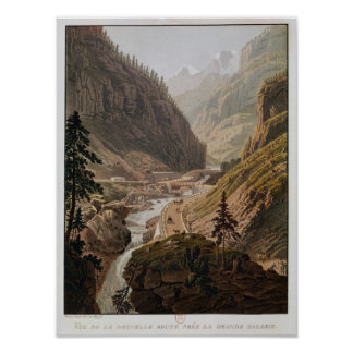 View of the New Simplon Pass, 1811 Poster