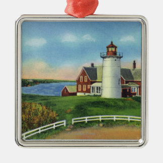 View of the Nobska Lighthouse, Woods Hole Christmas Ornament
