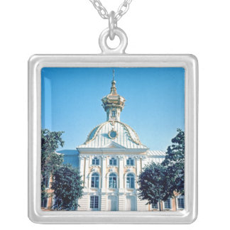 View of the North Pavilion Silver Plated Necklace