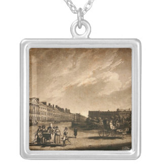 View of the north side of Grosvenor Square, 1789 Silver Plated Necklace