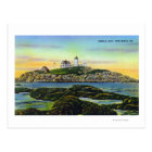View of the Nubble Lighthouse at York Beach Postcard
