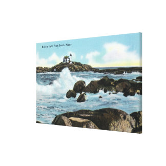 View of the Nubble Lighthouse Canvas Print