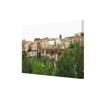 View of the old bridge (photo) stretched canvas prints