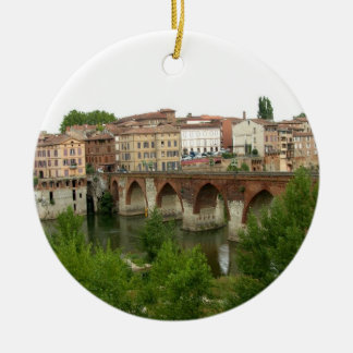 View of the old bridge (photo) christmas ornament