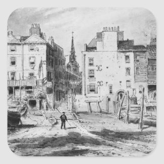 View of the Old Hungerford Stairs, c.1815 Square Sticker