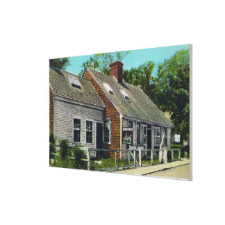 View of the Oldest House in Town Canvas Print