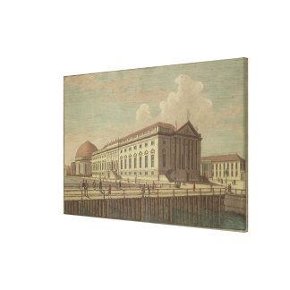 View of the Opera House in Berlin, 1773 Canvas Print