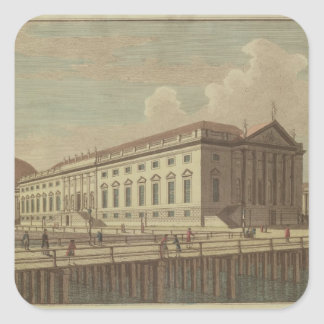 View of the Opera House in Berlin, 1773 Square Sticker