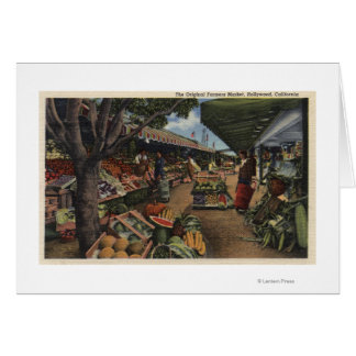 View of the Original Farmer's Market Greeting Card