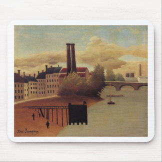 View of the Outskirts of Paris by Henri Rousseau Mouse Pad