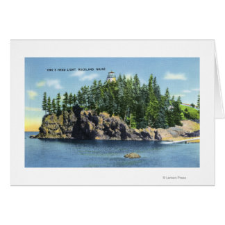 View of the Owl's Head Lighthouse 2 Greeting Card